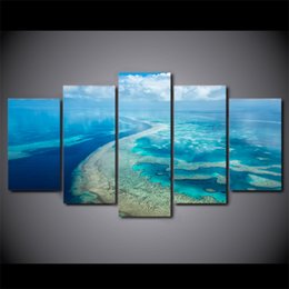 art canvas prints Australia - 5 Piece Canvas Art HD Print Home Decor great barrier reef Paintings For Living Room Wall Poster Picture Free Shipping UP-2302C