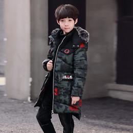 Camouflage Cotton Jacket NZ - Boy Thickening Camouflage Parka Children's Boys Cotton-wadded Jackets Winter Coat 2018 New Warm Outerwear For 6-11T Boy