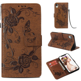 Iphone Case Butterfly Pu NZ - New iPhone 6.1 6.5 2018 Xs Xr Max Case PU Leather Stand Wallet Rope Card Slots For iPhone 5S 5SE 6S 7 8 Plus X 10 Protective Butterfly Cover
