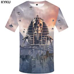 c4f62dc26fb3 KYKU T-shirt Men Skull Tshirt War City 3d Printe T Shirt Punk Rock Clothes  Sky Anime Hip Hop Mens Clothing Streetwear