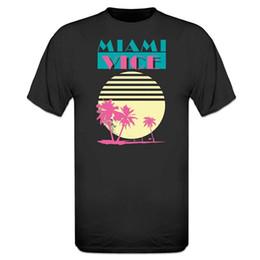fe5d8d579 Camisas feitas sob encomenda dos homens em linha Miami Vice T-Shirt  O-pescoço de Manga Curta Camisas Da Forma T 100% Algodão Novo T-Shirts
