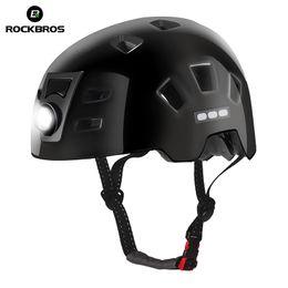 15 bike 2019 - ROCKBROS Bike Headlamp Cycling Helmet Intergrally-molded Bicycle Light Helmet Sports Safety MTB Bike Cap For Men Women c
