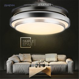 42 Inch Modern Invisible Fan Lights Acrylic Leaf Led Ceiling Fans 110v-220v Wireless Remote Control Ceiling Fan Light 42-yx0098 Lights & Lighting