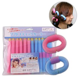 Diy Curls Hair Rollers Australia - 12pcs lot Sponge Hair Curling Roller Diy Magic Self-adhesive Twist Curler, Bangs Hair Roller And Hairdressing Fashion Salon Styling Tools