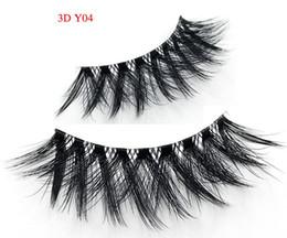 Hand Made Mink False Eyelashes Canada - Lash New Silk Eyelashes 3D Silk Protein 3D Y04 Lashes Luxury Hand Made faux mink False Eyelashes Cruelty Free Lashes winged eyelash3d lashes