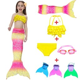 White Tail Cosplay Australia - 2018 Hot The Little Mermaid Tail Costume Princess Ariel Children Mermaid Tail with fin Cosplay Kids For Girl Fancy Swimsuit