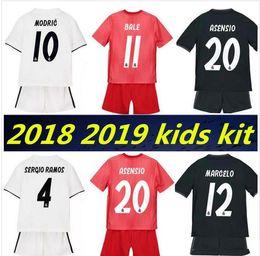 7198554fabe kids kit 2018 2019 Real Madrid Soccer Jersey 18 19 youth boy Child RONALDO  home away Soccer shirt Modric KROOS ISCO ASENSIO BALE Football