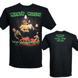 Toptan satış MARILYN MANSON - AMERİKAN AİLE - Resmi Lisanslı T-Shirt - Yeni M L XL