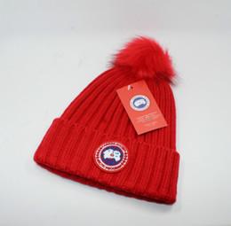 Tops Canada Australia - Top Sale Christmas gift for lovers High quality sale Fashion Unisex Winter brand CANADA men beanie Bonnet women Casual Beanie