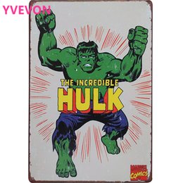 movie tin signs wholesale NZ - THE INCREDIBLE HULK Retro Metal Plaque Tin Vintage Movie Sign Cartoon Board Animation Cinema Film poster home wall 20x30cm