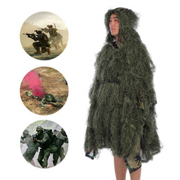 full hunting camouflage clothing 2019 - Outlife Camouflage Cloak Jungle Hunting Ghillie Suit Desert Woodland Sniper Birdwatching Poncho Durable Hunting Clothing