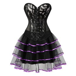 3caa42b9433 sexy victorian bustier corset dresses up costumes gothic burlesque corset  and skirt set floral lace for women plus size s-6xl