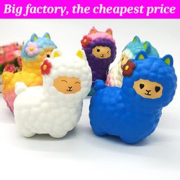 AlpAcA soft toys online shopping - Squishy alpaca cm cm cm huge Slow Rising Soft Squeeze Cute Cell Phone Strap gift Stress children toys Decompression Toy