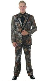 camouflage tuxedos UK - New Hot Selling Camouflage cloth Groom Tuxedos Notch Lapel Groomsmen Mens Wedding Business Prom Suits (Jacket+Pants+Tie) 217