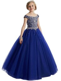 $enCountryForm.capitalKeyWord UK - Girls Pageant Dresses Ball Gowns Cascading Ruffles Unique Designer Child Glitz Flower Girls Dresses For Wedding