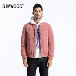 Discount simwood clothing - SIMWOOD White Duck Down Jacket Men Fashion Bomber Coat High Quality Baseball Outerwear Plus Size Brand Clothing 180561