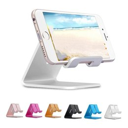 Wholesale Universal Aluminum Metal Mobile Mate Cell Phone Tablet PC Holder Desk Stand Holders for iPad iPhone Samsung LG Huawei Retail package