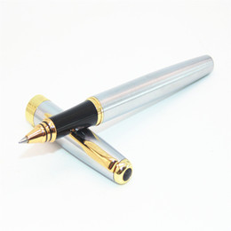 baoer pen nib UK - BAOER 388 Stainless steel Business Medium Nib Rollerball Pens Gold Sword Hook Trim New