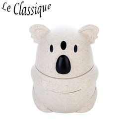 Plastic Toothpick Wholesale Australia - Koala Pose Automatic Toothpick Holder Made of PP Material Toothpick Box Widely Used in Home Hotel