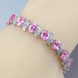 $enCountryForm.capitalKeyWord Australia - Now Hot Selling Adjustable Link Chain Bracelet Length 20CM Pink Zircon 925 Sterling Silver 11-Color Jewelry