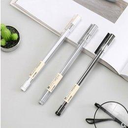 Опт MIRUI простой стиль muji pen новый гелевая ручка 0.38 мм черные чернила иглы глава письменные принадлежности для студентов