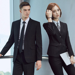 $enCountryForm.capitalKeyWord Canada - 2017 New Korean Occupation Female Suits Slim Suit Jacket Pants Skirt Black Blue Business Suits for Men and Women Plus Size S-5XL