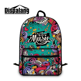 laptop bags for women Canada - Musical Note Pattern School Bags For High Class Students College Stylish Laptop Backpack Women Men Traveling Rucksack Children Mochila Pack