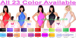Sexy Bodysuit Halloween Costume NZ - Sexy Women Short Body Suit Costumes 23 Color Lycra Spandex Short Suit Catsuit Costumes Sexy Bodysuit Halloween Party Cosplay Costumes DH040