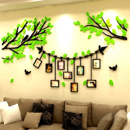 online shopping Photo frame wall creative D crystal acrylic three dimensional wall stickers living room TV background wall stickers Home decoration