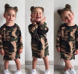 Military Camouflage Clothing NZ - Hot Sale Summer Baby Onesies Baby Girl Camouflage Clothes Cotton Round Children Military Green Clothes T-shirt