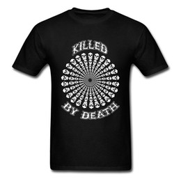 round skull NZ - 3D Printed Skull On T Shirt Round Neck Summer Pure Cotton T-Shirt Birthday Short Sleeve Slim Fit Plus Size Tee Shirt Mens Summer Clothes