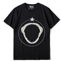 Chinese  Hot sell 2018 New Fashion Brand Men Short Sleeve Casual T shirt Men Pentagram Shark tooth pattern Print Fashion T Shirt Man Casual TEE manufacturers