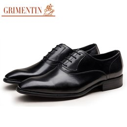 Grimentin Shoes UK - GRIMENTIN Hot sale brand genuine leather mens dress shoes high quality fashion designer oxford shoes Italian wedding formal male shoes