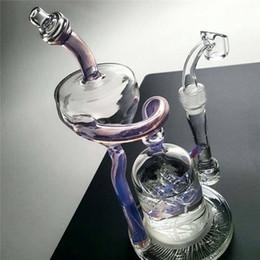 $enCountryForm.capitalKeyWord Australia - Jm Flow Sci Glass Bongs Purple Colored Double Chamber Klein Recycler Oil Rigs With Quartz Banger Fab Egg Smoking Pipes Hookahs Cheap