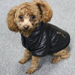 Leg Jacket NZ - Leather Small Pet Dog Clothes Winter Detachable Two -Piece Set Dog Coat And Jacket Warm Four Legs Hoodie Dog Apparel Pet Clothing