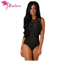 56c0d3bb4c4d 2018 Bodysuit Women Sexy Black Lace High Neck Cut Out Back Bodycon Jumpsuits  Romper Combinaison Shorts Playsuits