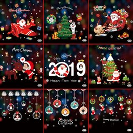$enCountryForm.capitalKeyWord Australia - DIY White Snow Christmas Wall Stickers car Window Glass Festival Decals Santa Murals New Year Christmas Decorations for Home Decor
