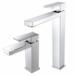 $enCountryForm.capitalKeyWord NZ - Chrome Basin Faucet Short Deck Mounted Single Lever Basin Mixer Tap Tall Square Solid Brass Construction