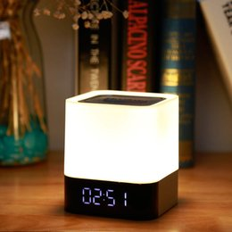 $enCountryForm.capitalKeyWord NZ - MUSKY DY28 5W Digital Alarm Clock Wireless Touch LED Night Light Bluetooth Speaker LED Night Lamp Support USB TF Card DY 28