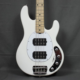 China Music Man 4 Strings Ernie Ball StingRay White Electric Bass Guitar Ash Body,Maple Neck & Fingerboard, HH Active Pickups, 9V Battery Box, suppliers