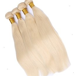 Durable remy hair online shopping - Durable Brazilian Hair Products Platinum Blonde Color Virgin Straight Hair Extensions Human Remy Hair Extension g
