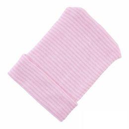 1ee71ff9e 1 UNIDS Bebé Recién Nacido Gorros Lindo Infantil Niños Niñas Suave Azul  Sólido Hospital Sombreros Invierno Cálido Sombreros Accesorios para bebés  por 0-3 ...