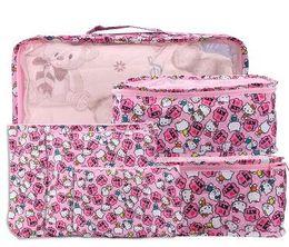 9cb3dd2b9251 6 In 1 Set Cartoon Hello Kitty My Melody Twin Stars Doraemon Bags Travel  Organizer Cloth Underwear Bra Socks Storage Bags
