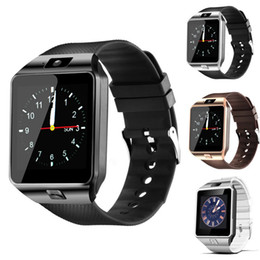 Free kids cell phones online shopping - Smartwatch Latest DZ09 Bluetooth Smart Watch Support SIM Card For Apple Samsung IOS Android Cell phone inch Free DHL smartwatches
