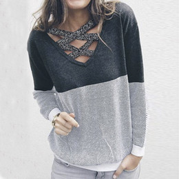 backless sweater long sleeve 2019 - Wholesale-Female Reversible Hollow Out Knitted Sweater Pullover Backless Long Sleeve Two Side Wear Autumn Winter Plus Si