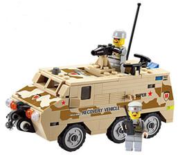 Multicolor Block Bricks NZ - KAZI 84026 DIY Armored Personnel Carrier Building Block playmobil Educational Jigsaw DIY Construction Bricks Toys