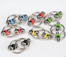 $enCountryForm.capitalKeyWord Australia - Key Ring Hand Spinner Tri-Spinner Reduce Stress EDC Fidget Toy flippy chain Kid Gift