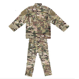 China Children Uniform Camouflage Suit Boy Girl Clothes Jacket+Pants Army Paintball Combat Camo CS Clothes supplier camouflage combat suit suppliers