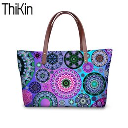 $enCountryForm.capitalKeyWord Australia - THIKIN Shoulder Bags for Women Kaleidoscope Printing Handbags Ladies Fashion Top-Handle Bags Females Large Hand Tote Bag Bolsa