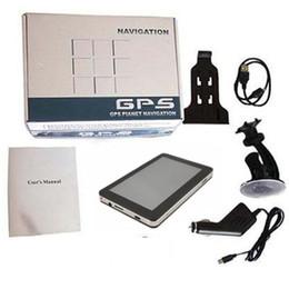 7 pouces GPS voiture de navigation avec Bluetooth AV Navigator DDR256MB + 4 Go 8 Go MTK Win CE Multilingue gratuit multi-pays MP